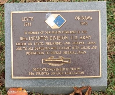 96th Infantry Division Marker image. Click for full size.