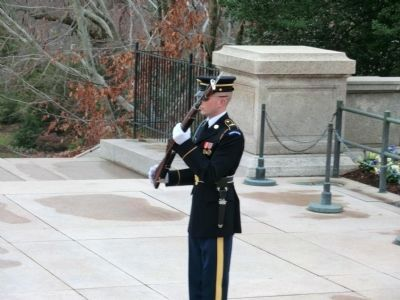 Tomb of the Unknowns Honor Guard image. Click for full size.
