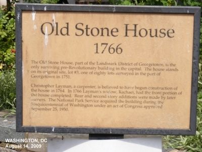 Old Stone House Marker image. Click for full size.