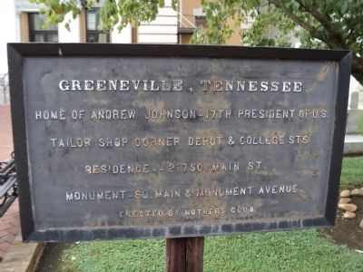Greeneville, Tennessee Marker image. Click for full size.
