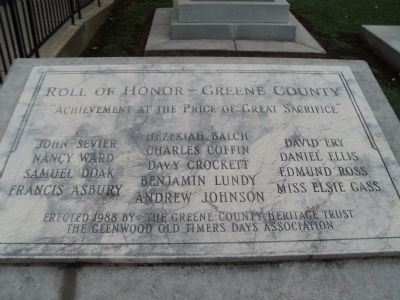 Roll of Honor – Greene County Marker image. Click for full size.