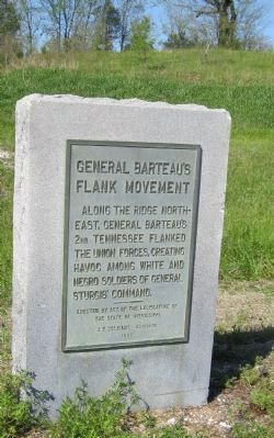 General Barteau's Flank Movement Marker image. Click for full size.