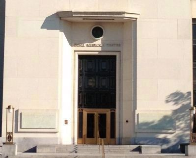 Main entrance to the former Naval Medical Center image. Click for full size.