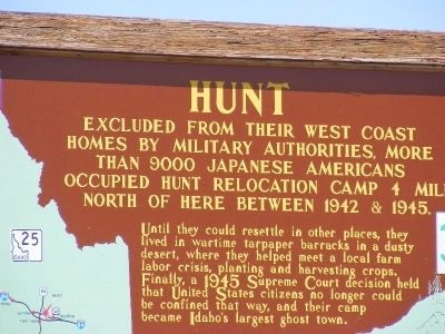 Hunt (Camp) Marker image. Click for full size.