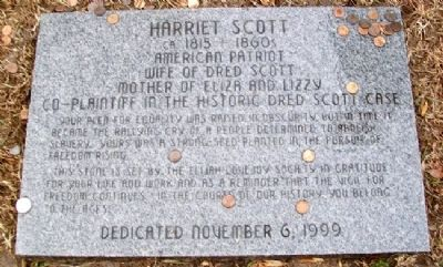 Harriet Scott Marker image. Click for full size.