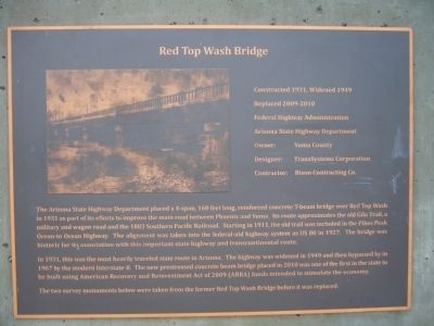 Red Top Wash Bridge Marker image. Click for full size.