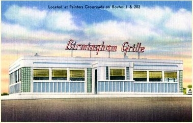 This is the Birmingham Diner at its original Location - Post Card