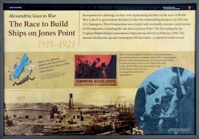 The Race to Build Ships on Jones Point Marker image. Click for full size.