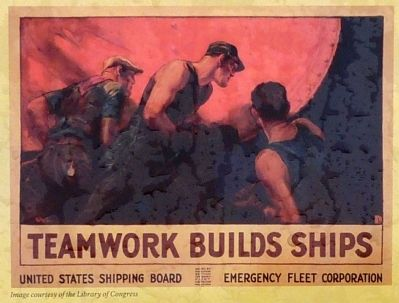 Teamwork Builds Ships image. Click for full size.
