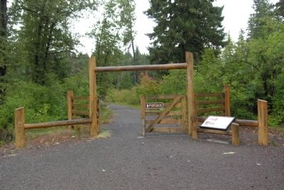 Reconstructed Toll Gate on the Old Santiam Wagon Road image. Click for full size.