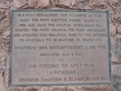 Holtville Marker - Placed by E Clampus Vitus image. Click for full size.
