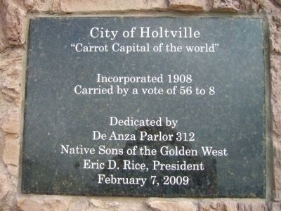 City of Holtville - Placed by the Native Sons of the Golden West image. Click for full size.