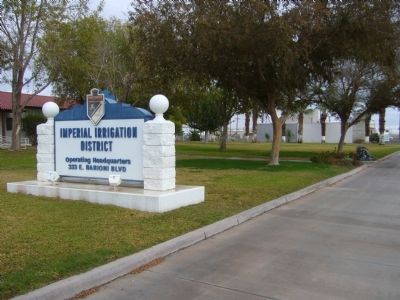 Imperial Irrigation District Marker image. Click for full size.