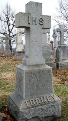 Rev. James J. Toomey Monument image. Click for full size.