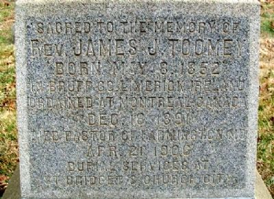 Rev. James J. Toomey Marker image. Click for full size.