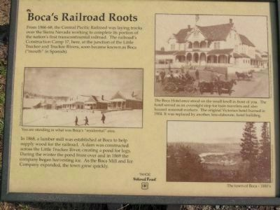 Boca Townsite Marker #1 - Boca's Railroad Routes image. Click for full size.