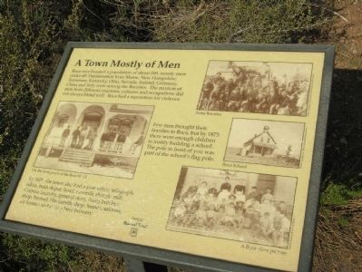 Boca Townsite Marker #2 - A Town Mostly of Men image. Click for full size.
