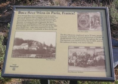Boca Townsite Marker #4 - Boca Beer Wins in Paris, France! image. Click for full size.