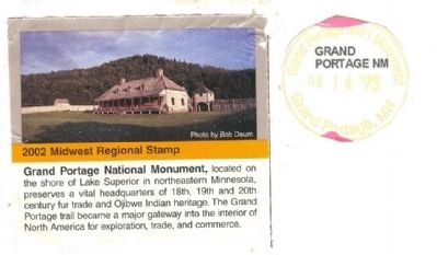 The Grand Portage Marker image. Click for full size.