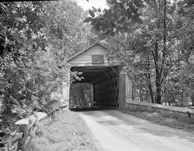 South Entry - Ashland Covered Bridge (1958) image. Click for full size.