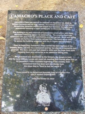Camacho's Place and Café Marker image. Click for full size.