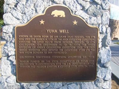 Yuha Well Marker image. Click for full size.