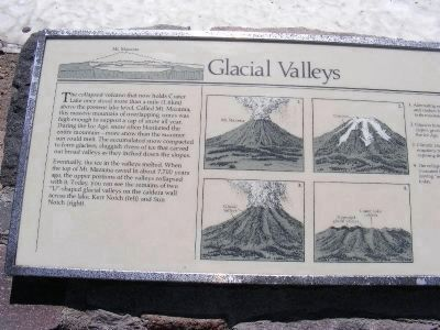 Left Side of the Glacial Valleys Marker image. Click for full size.