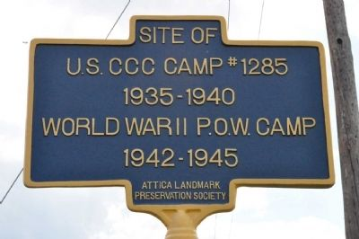 Site of U.S. CCC Camp #1285 Marker image. Click for full size.
