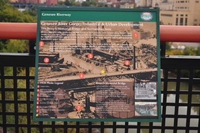 Genesee River Gorge: Industrial & Urban Development Marker image. Click for full size.