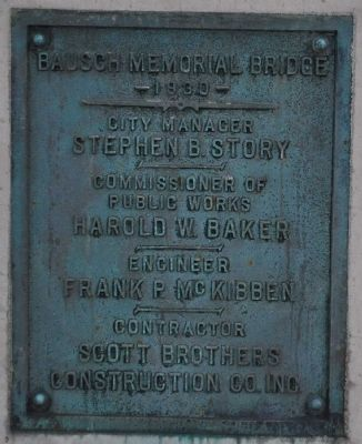 Bausch Bridge Memorial Marker image. Click for full size.