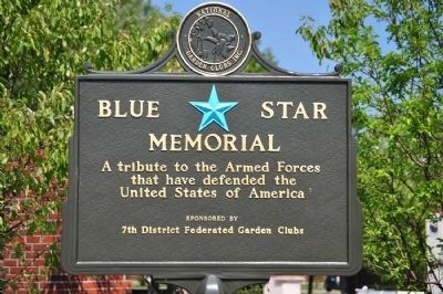 Blue Star Garden Marker image. Click for full size.