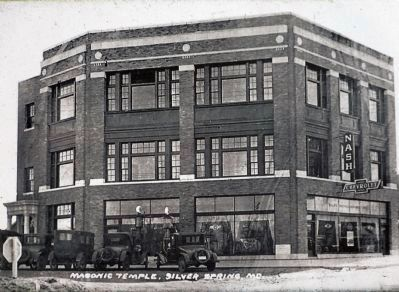 Silver Spring's 1927 Masonic Temple image. Click for full size.