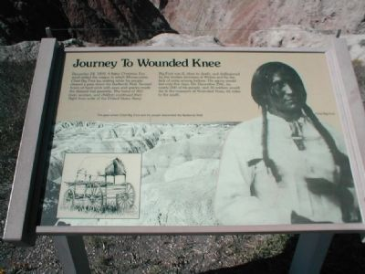 Journey to Wounded Knee Marker image. Click for full size.