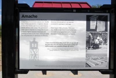 Granada Relocation Center Marker #1 - Amache image. Click for full size.