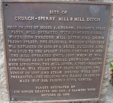 Site of Church-Sperry Mill and Mill Ditch Marker image. Click for full size.