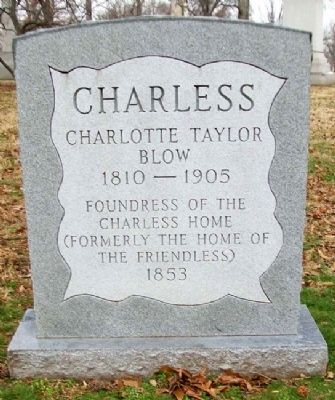 Charlotte Taylor Blow Charless Marker image. Click for full size.