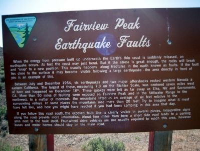 Fairview Peak Earthquake Faults Marker image. Click for full size.