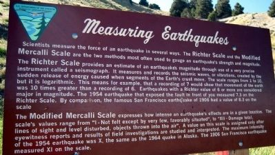 Measuring Earthquakes Marker image. Click for full size.