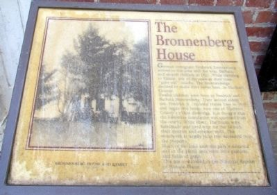 The Bronnenberg House Marker image. Click for full size.