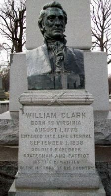 William Clark Monument Bust image. Click for full size.