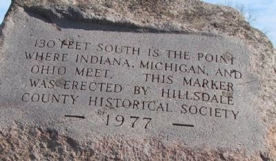 130 Feet South Marker image. Click for full size.
