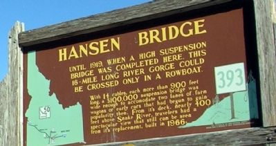 Hansen Bridge Marker image. Click for full size.