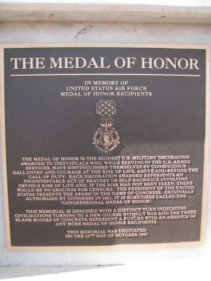 The Medal of Honor Marker image. Click for full size.
