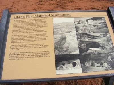 Utah's First National Monument Marker image. Click for full size.