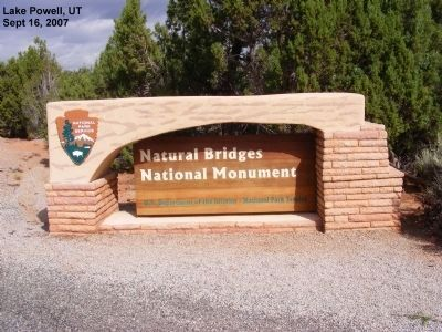 Sign at Entrance to the National Park image. Click for full size.