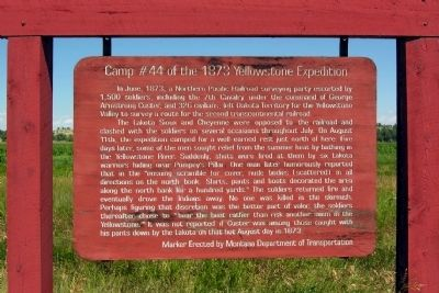 Camp #44 of the 1873 Yellowstone Expedition Marker image. Click for full size.