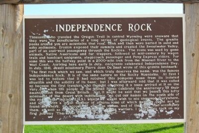 Independence Rock Marker image. Click for full size.