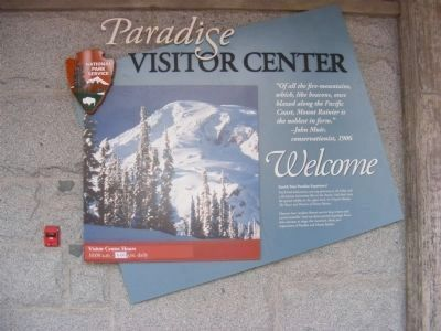 Visitor Center Welcome Sign image. Click for full size.
