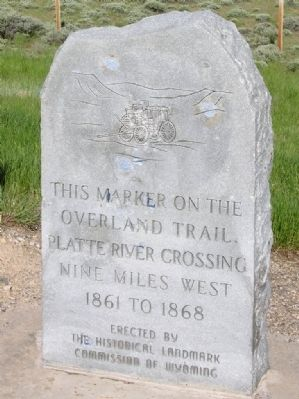This Marker on the Overland Trail Marker image. Click for full size.