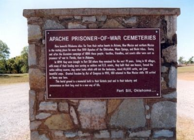 Apache Prisoner-of-War Cemeteries Marker image. Click for full size.